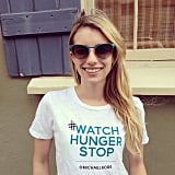 Emma Roberts supported designer Michael Kors's Watch Hunger Stop campaign. Source: Instagram user emmaroberts6