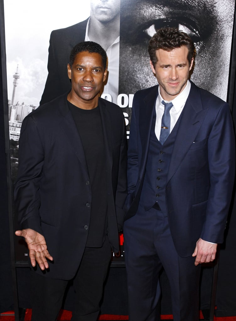 Ryan Reynolds joined Denzel Washington to premiere Safe House in NYC.