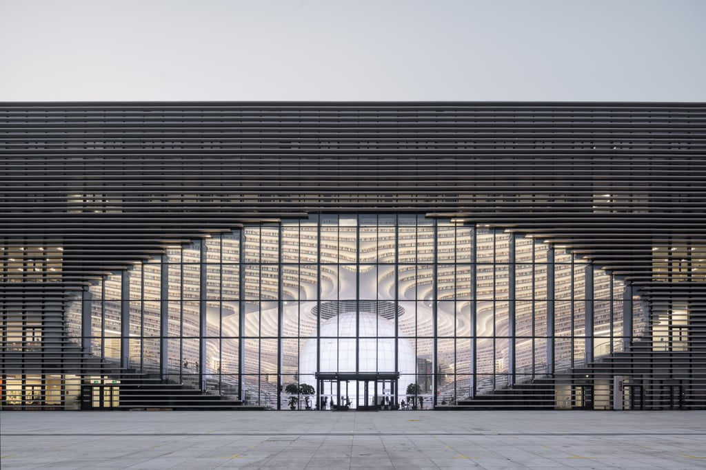 Image result for TIANJIN BINHAI PUBLIC LIBRARY
