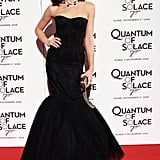 Olga Kurylenko opted for a striking Dolce & Gabbana dress for the Quantum of Solace premiere in Rome in 2008.