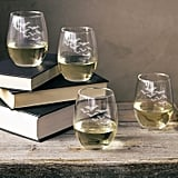 Cathy's Concepts Colony of Bats Stemless Wine Glass Set