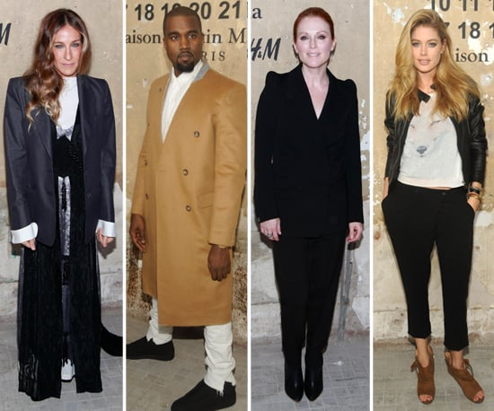 Celebrities at the Maison Martin Margiela For H&M Launch