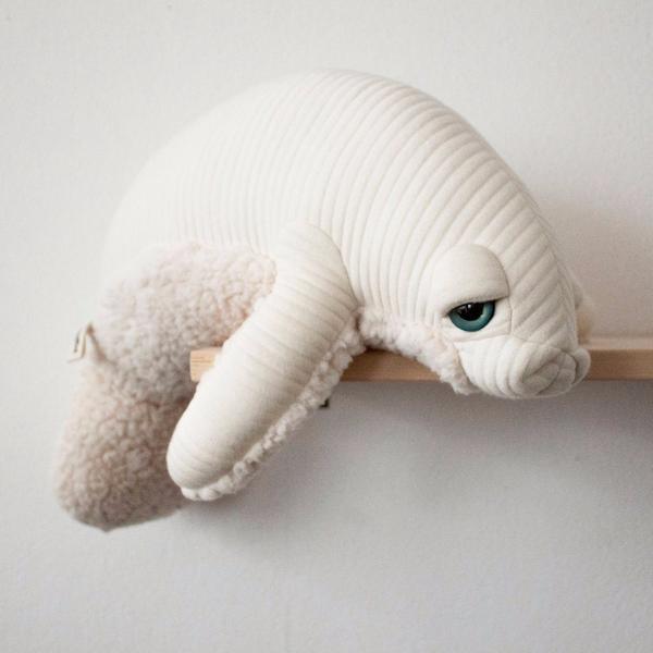 BigStuffed Albino Manatee