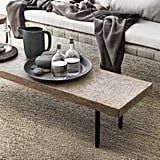 The bench ($119) can be used with the dining table or as a narrow coffee table for small spaces. The seagrass rugs are the perfect neutral ground coverings ($20-$70).