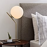 Rivet Glass Ball and Metal Table Lamp