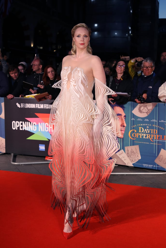 Whoa, Gwendoline Christie Is a Walking Optical Illusion in This Iris van Herpen Gown