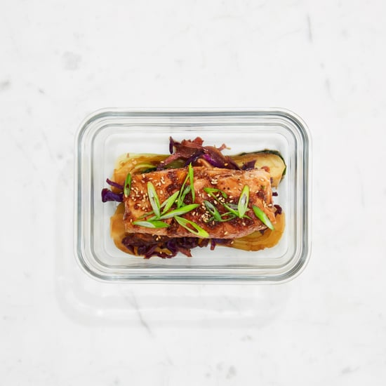 Asian-Spiced Salmon with Baby Bok Choy and Shiitakes