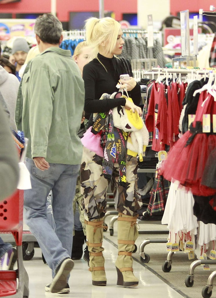 Gwen Stefani browsed the Target racks.