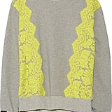 Preen by Thornton Bregazzi Gresham Lace-Trimmed Cotton-Jersey Sweatshirt  ($705)