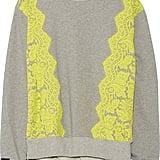Preen by Thornton Bregazzi Gresham Lace-Trimmed Cotton-Jersey Sweatshirt  ($705)