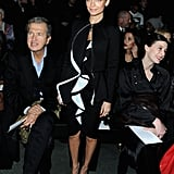 Nicole Richie sat next to photographer Mario Testino at Givenchy.