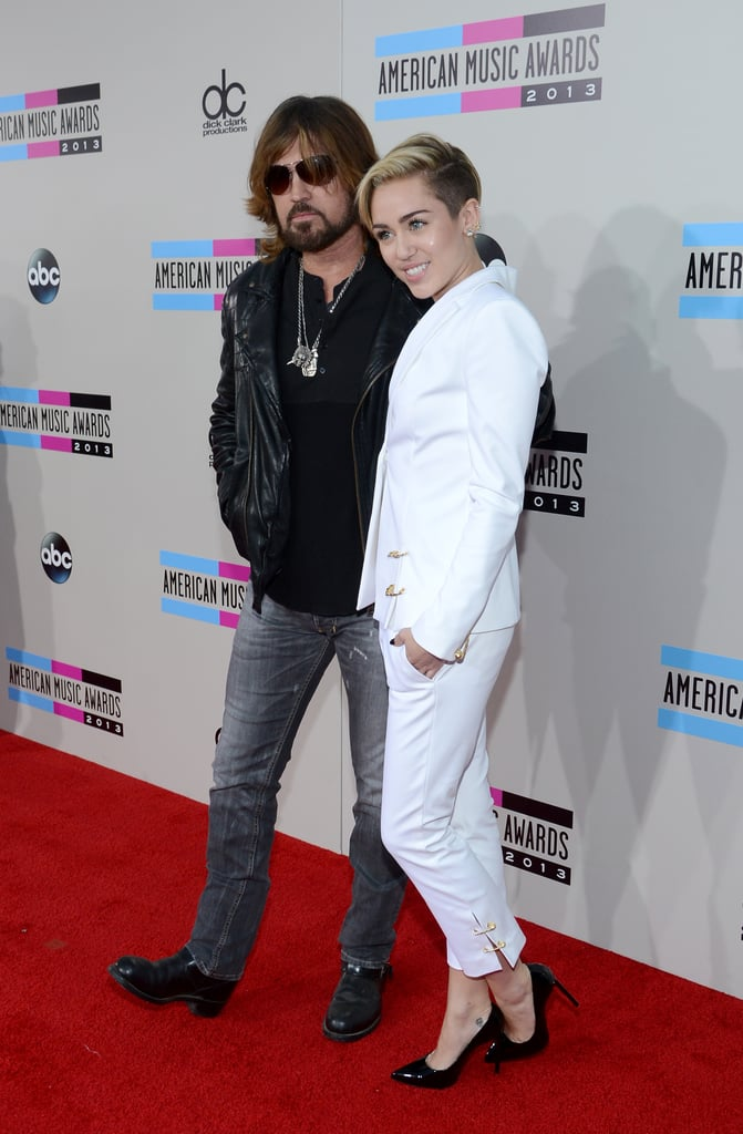 Miley Cyrus attended the big show with her dad, Billy Ray Cyrus.