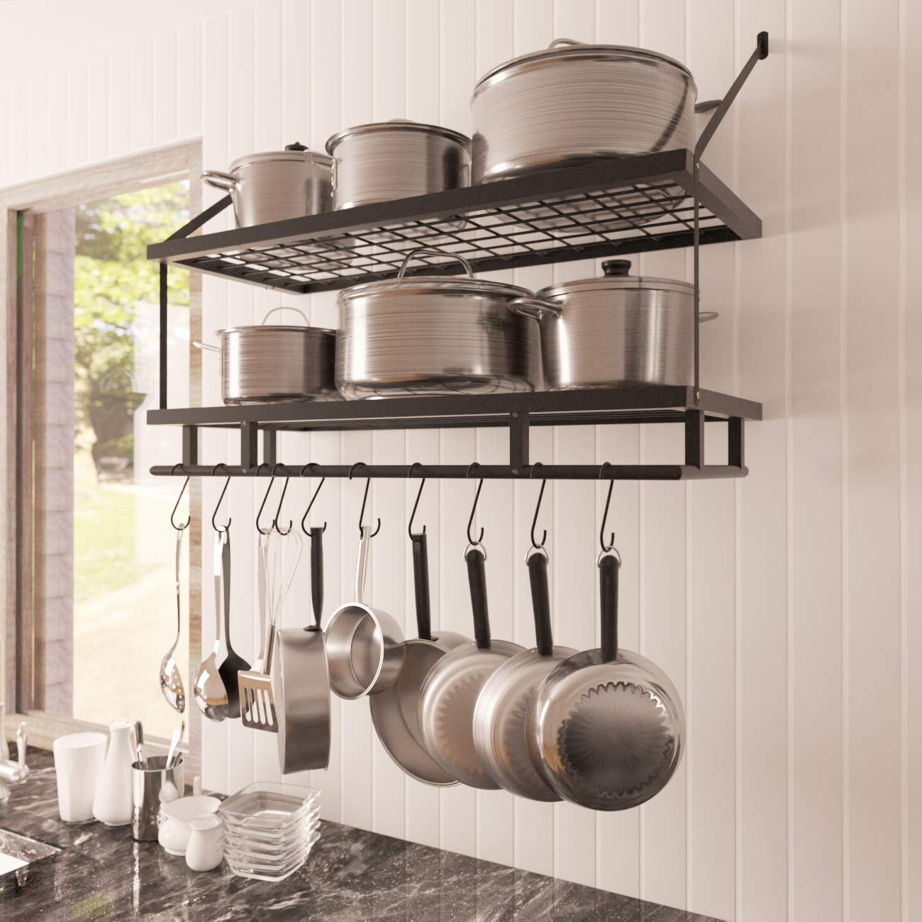 KES Kitchen Pan Pot Rack Wall | If You Have a Tiny Kitchen ...