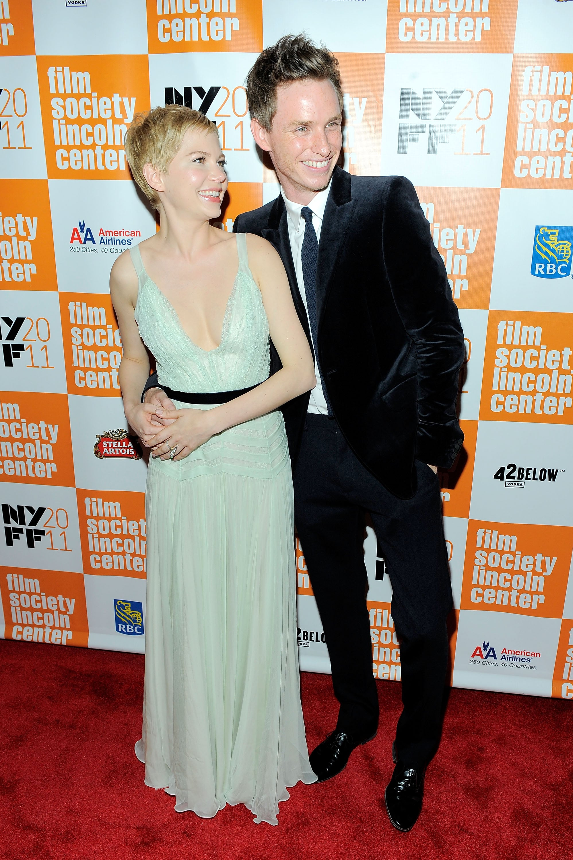 Michelle Williams and Eddie Redmayne couldn't stop smiling before the premiere of My Week With Marilyn.