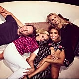"""""""The snuggle is real,"""" Reese wrote alongside this photo with Jessica Alba."""
