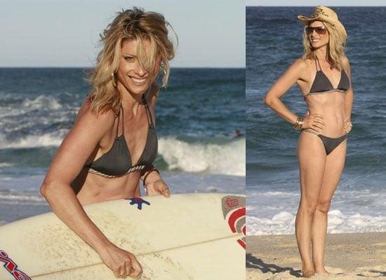Photos of I'm A Celebrity Contestant Dani Behr in Bikini on Beach in Australia