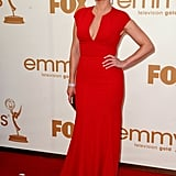 Kate Winslet donned a deep-v at the 2011 Emmy Awards.