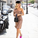 Dust Off Your Pink Summer Sandals and Work Them With a Trench Coat Dress