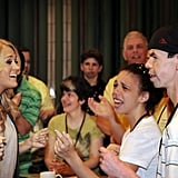 Carrie Underwood spent a day at the ACM Lifting Lives Music Camp in Nashville.