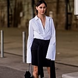Who knew a white button-down could be so dramatic?