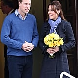 Kate Middleton and Prince William were out together in London.