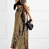 Rixo Daisy Velvet-Trimmed Cutout Sequinned Georgette Midi Dress