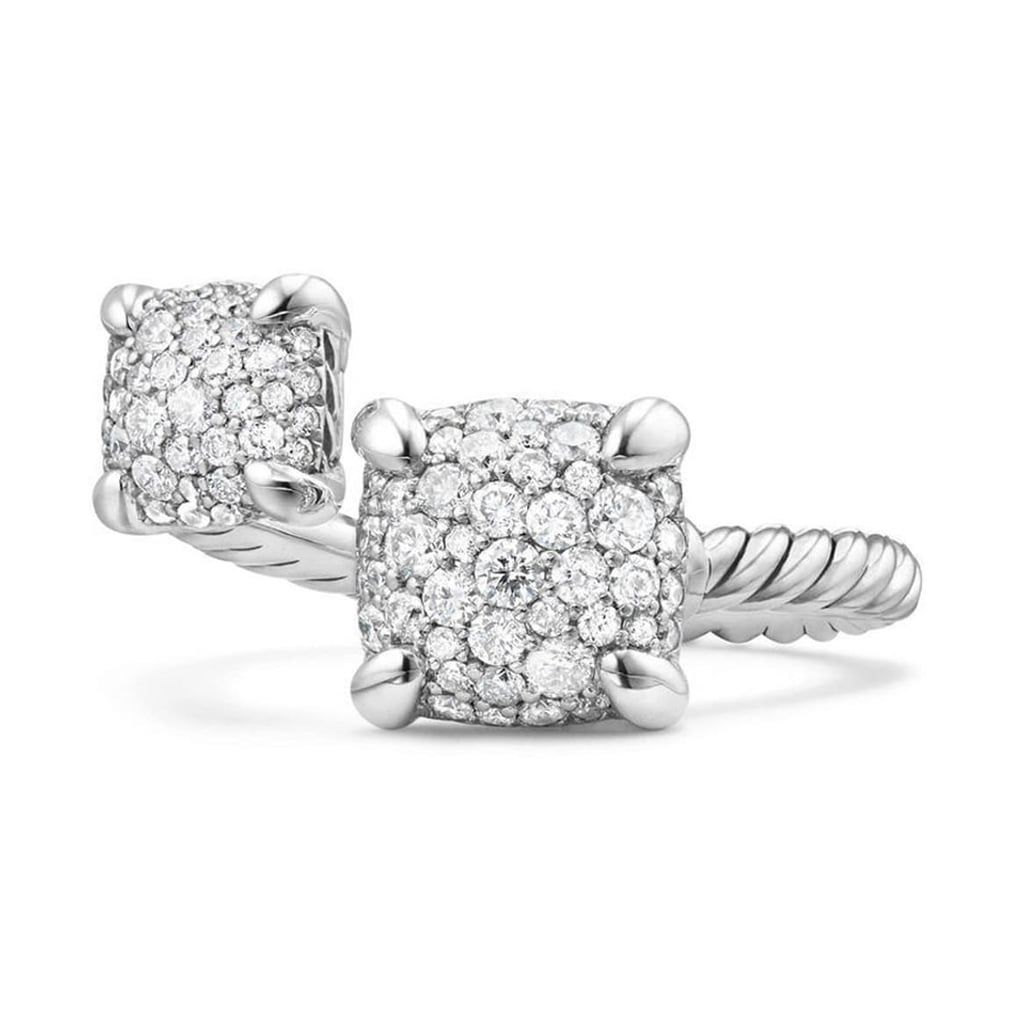 David Yurman Châtelaine Bypass Ring With Diamonds