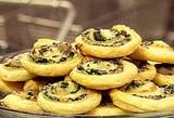 Spinach Gruyere Pinwheels
