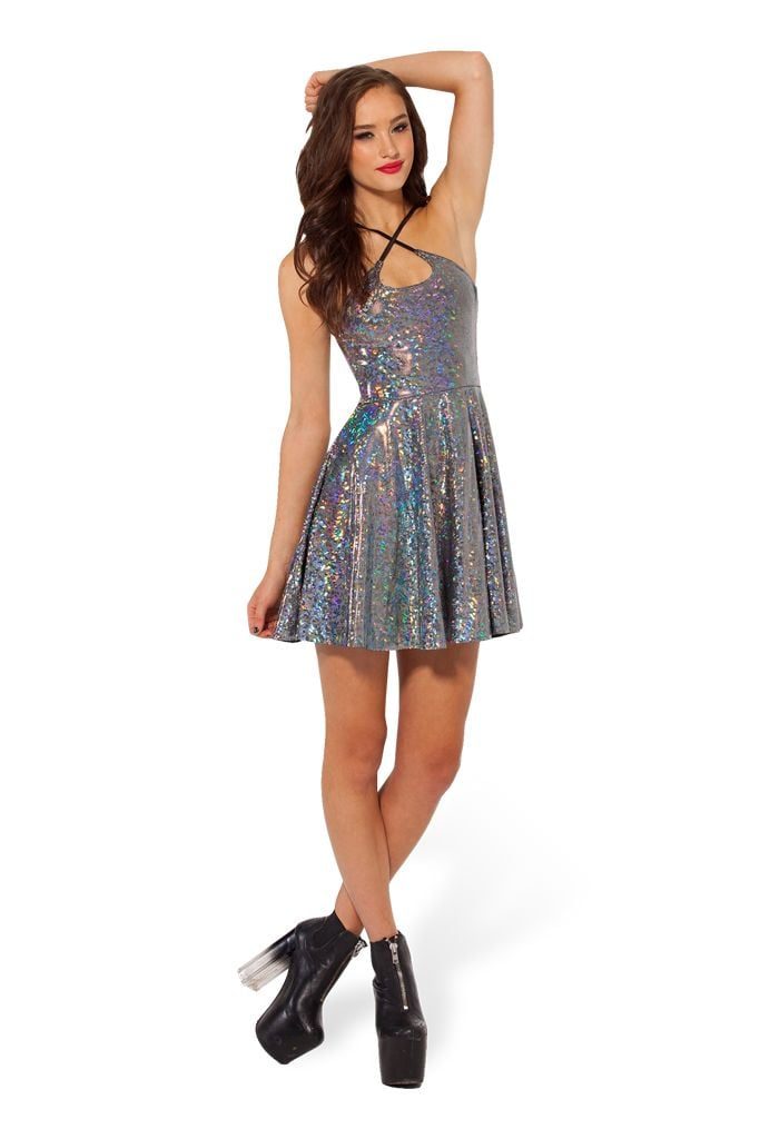 Shattered crystal reversible straps dress ($70)