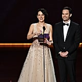 Phoebe Waller-Bridge and Bill Hader at the 2019 Emmys