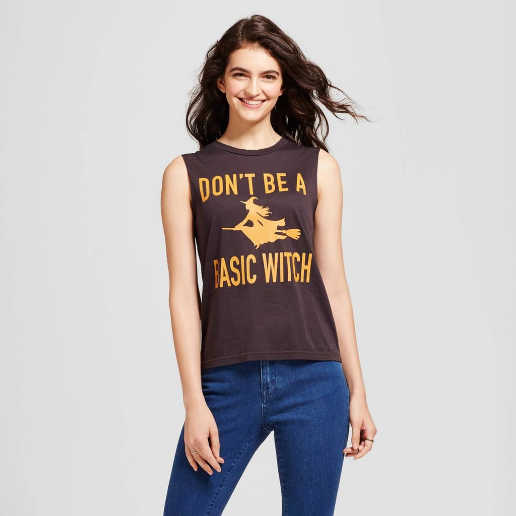 Fifth Sun Don't Be a Basic Witch Graphic Tank