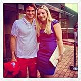 Lindsey Vonn caught up with silver medalist Roger Federer. Source: Instagram user lindseyvonn