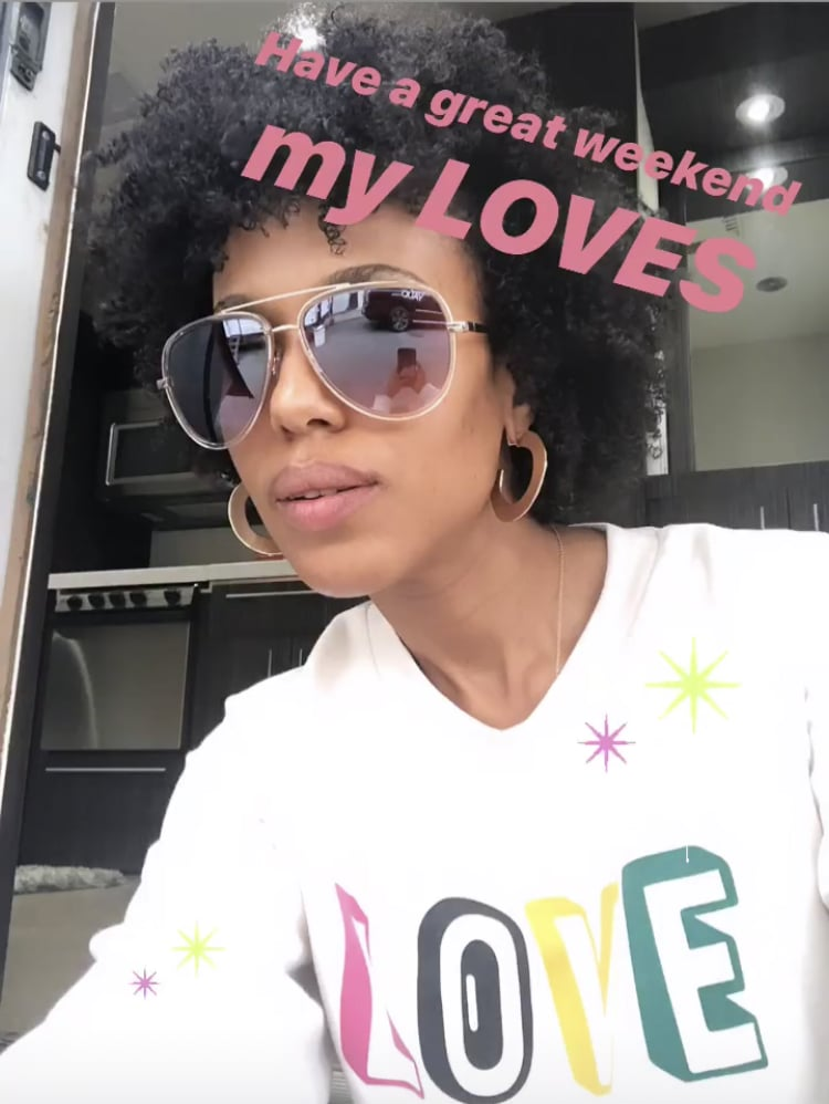 "Kerry Washington's $40 ""Love"" Sweatshirt Is the Ultimate Cozy-Cute Piece For Fall"