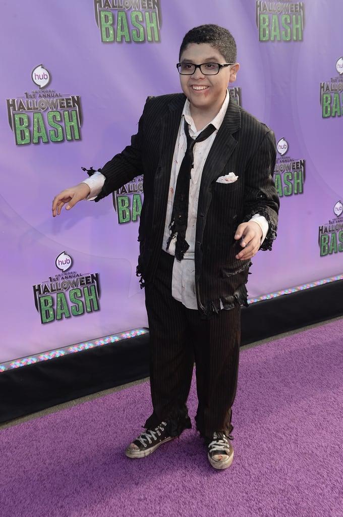 Modern Family's Rico Rodriguez showed up at the Hub Network's Halloween Bash dressed as a zombie.