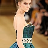 Happy to see the detailing and rich color of this Tony Yaacoub Haute Couture Fall 2013 dress up close.