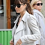 Jessica Biel's engagement ring sparkled as she shopped on the Paris streets.