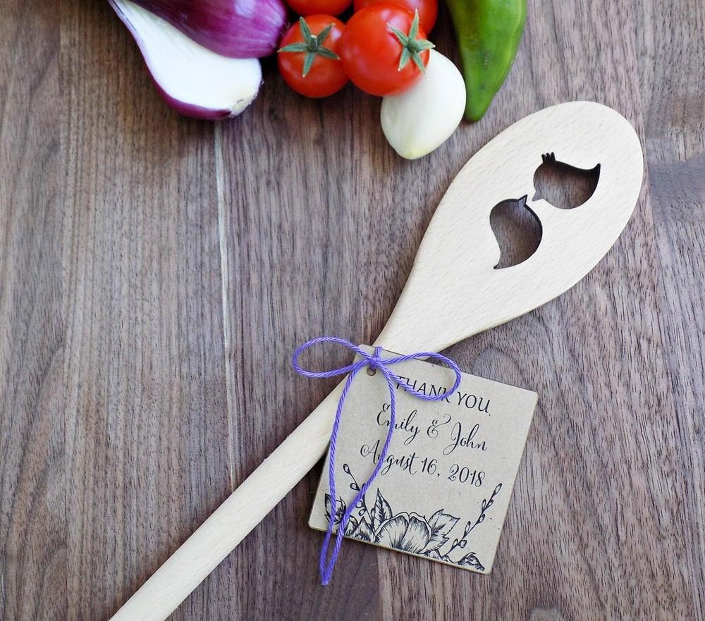 Wooden Spoon Affordable Etsy Wedding Favors Popsugar Smart