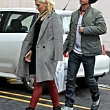 Gwen Stefani and Gavin Rossdale walked to their car.