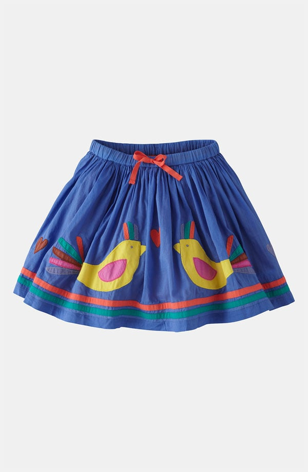 Mini Boden's Decorative Bird Skirt