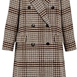 Isabel Marant Flint Double-Breasted Plaid Wool Coat ($1,515)