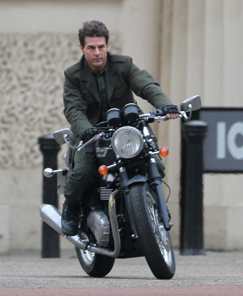 Tom Cruise filmed scenes for All You Need Is Kill in London on Sunday.