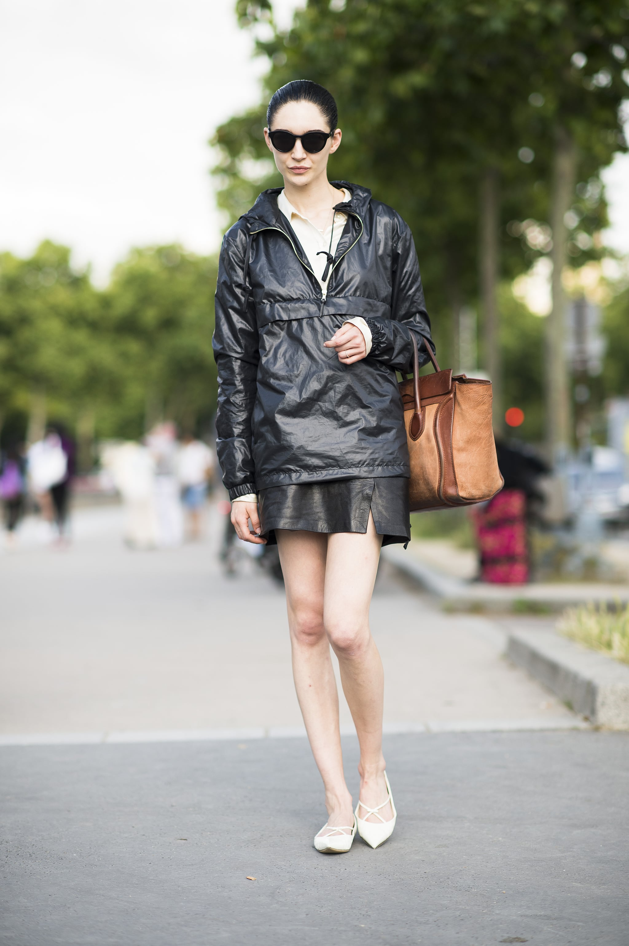 Making even a parka look chic with cool leather separates. Source: Le 21ème   Adam Katz Sinding