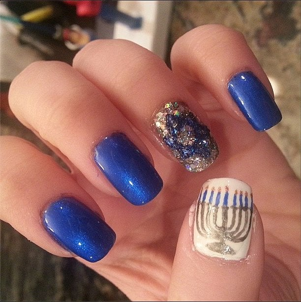Celebrate Hanukkah With These High Holy Nail Art Looks