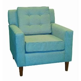 Lucy Upholstered Chair-Azura Blue ($365)