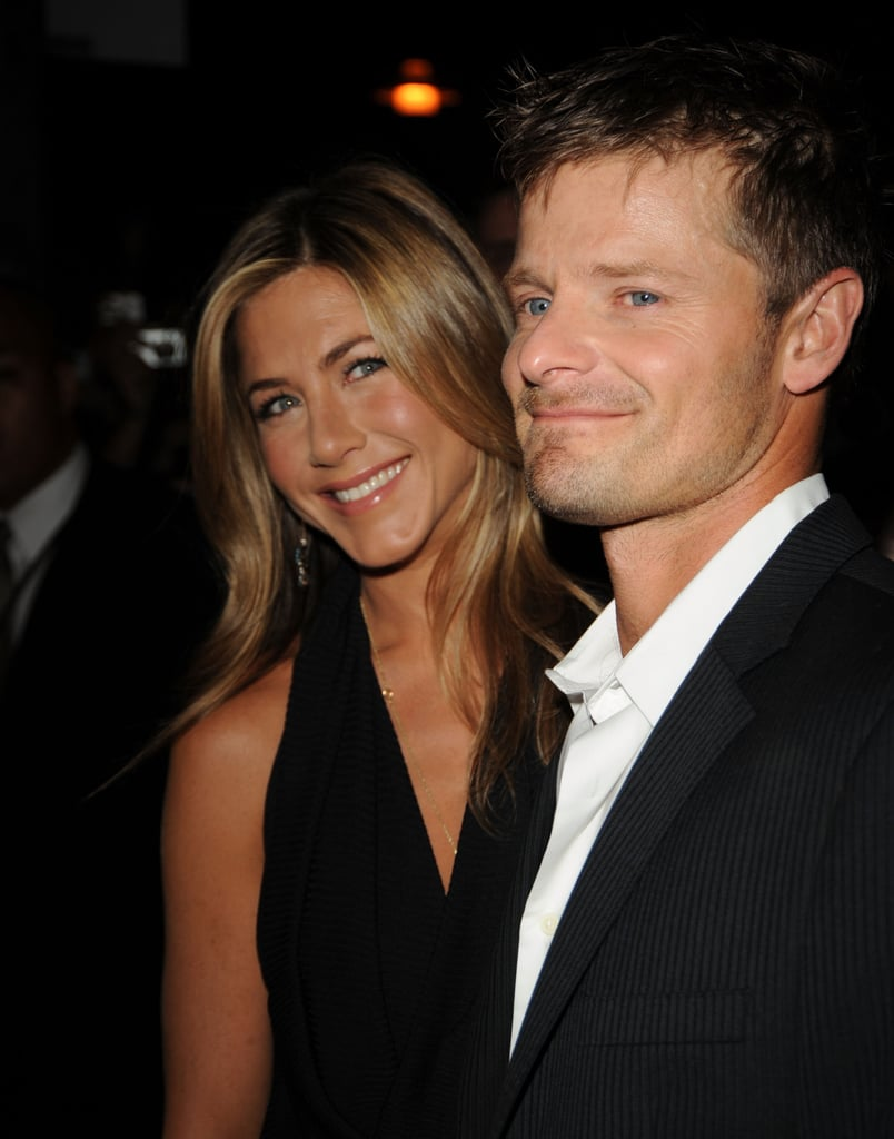 Jennifer Aniston and her co-star Steve Zahn hit the red carpet together in 2007 promoting their film Management.