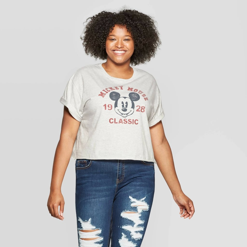 Mickey Mouse Classic Cropped Graphic T-Shirt