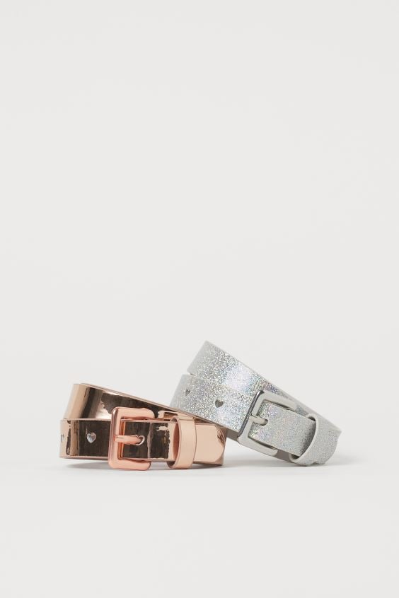 2-pack Shimmery Belts