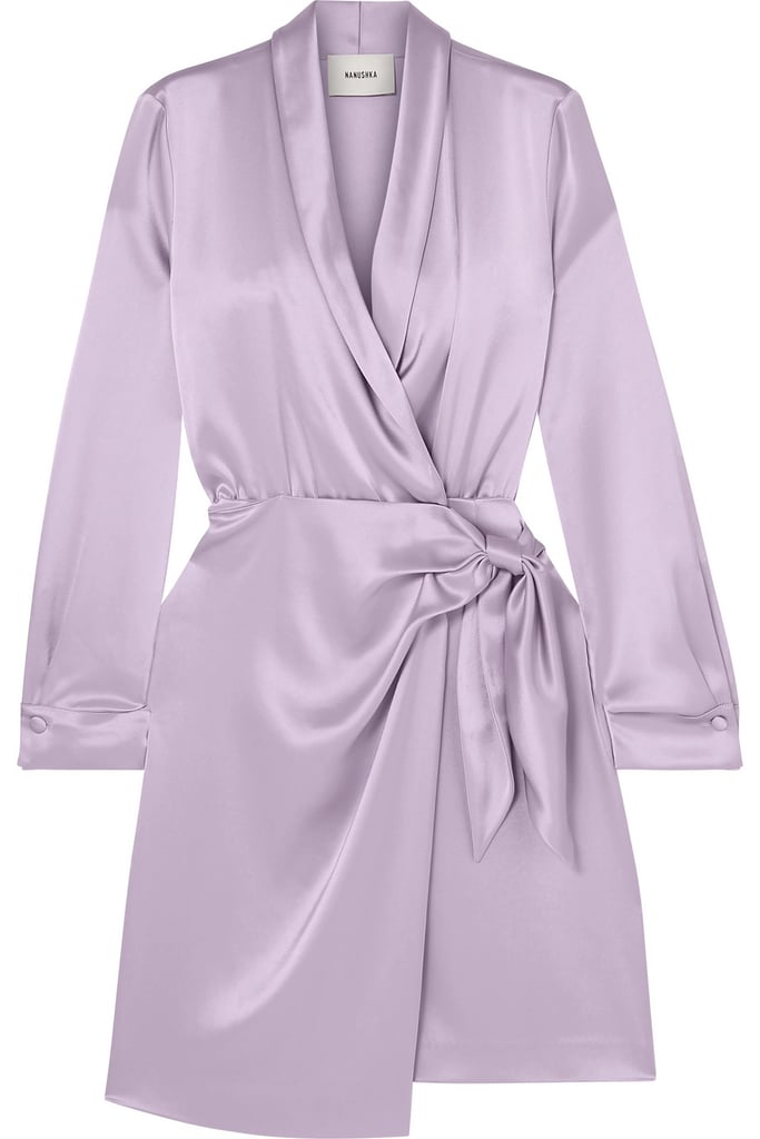 Nanushka Siwa satin wrap dress