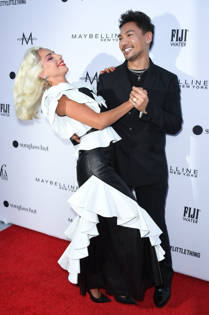 Lady Gaga Dancing on the Red Carpet in Her Rodarte Dress