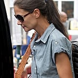 Katie Holmes stepped into a car in NYC.